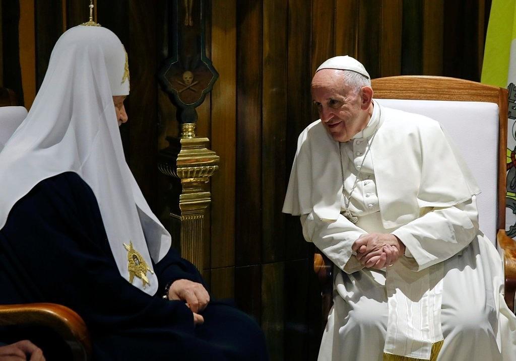 z19620660IH,Papiez-Franciszek-i-patriarcha-Cyryl