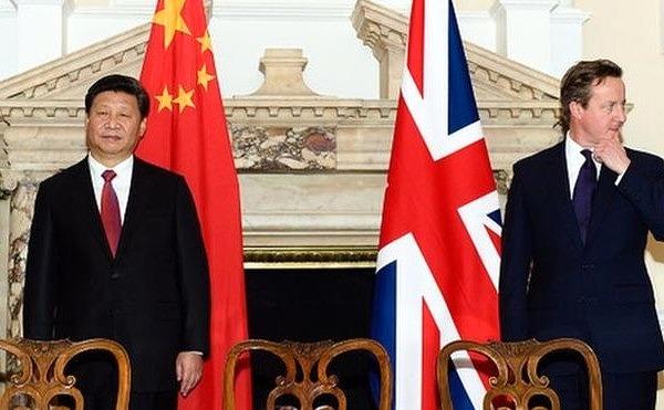 Wizyta przewodniczącego ChRL w Londynie w 2015 r.