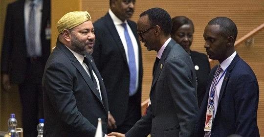 Król Maroka, Muhammad VI na szczycie państw UA