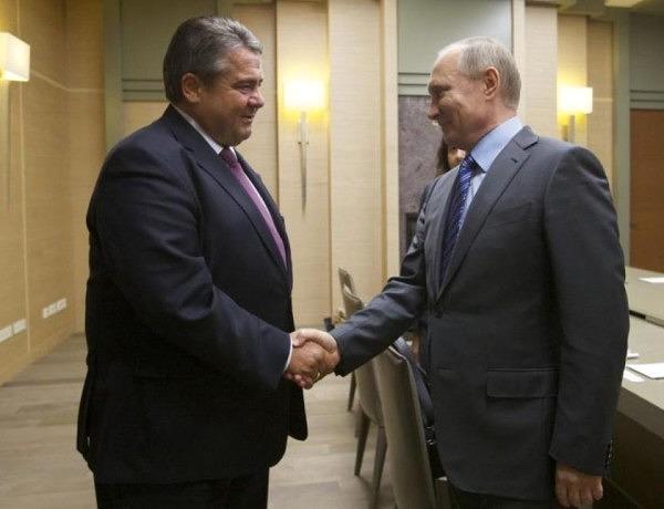 Szef MSZ, Sigmar Gabiriel z wizytą u Władimira Putina,